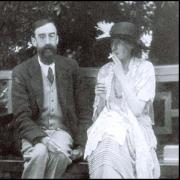 Photo of a man and Virginia Woolf