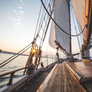 view from a sailboat at sea