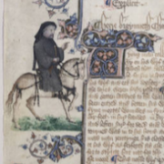 A painting of Chaucer
