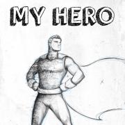 "Cover for Graham Jones' book. ""My Hero"""