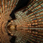 A tunnel made of books