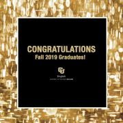 Congratulations Fall 2019 Graduates Graphic