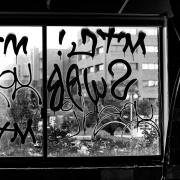 Graffiti on a window