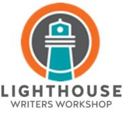 Lighthouse Writers Workshop logo showing wording and a lighthouse