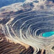Photo of a strip mining site