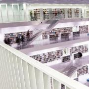 Interior of a clean, modern library