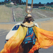 Sun Ra in Afrofutristic clothing