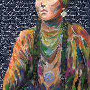 Painting of a Native American woman