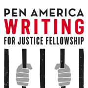 PEN logo showing two hands gripping jail bars