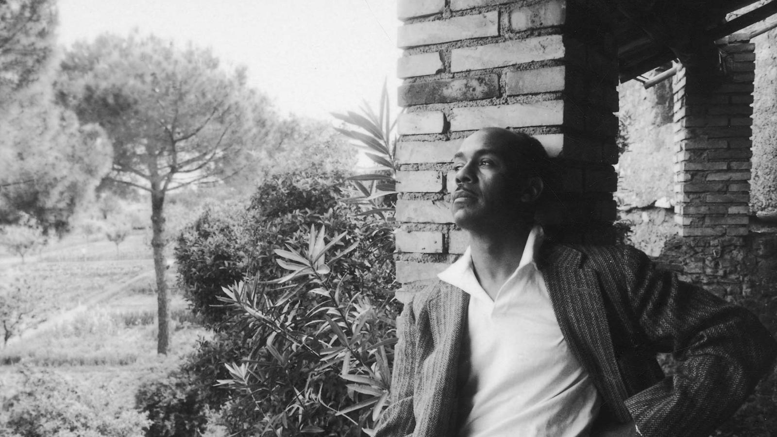Black and white photo of Ralph Ellison