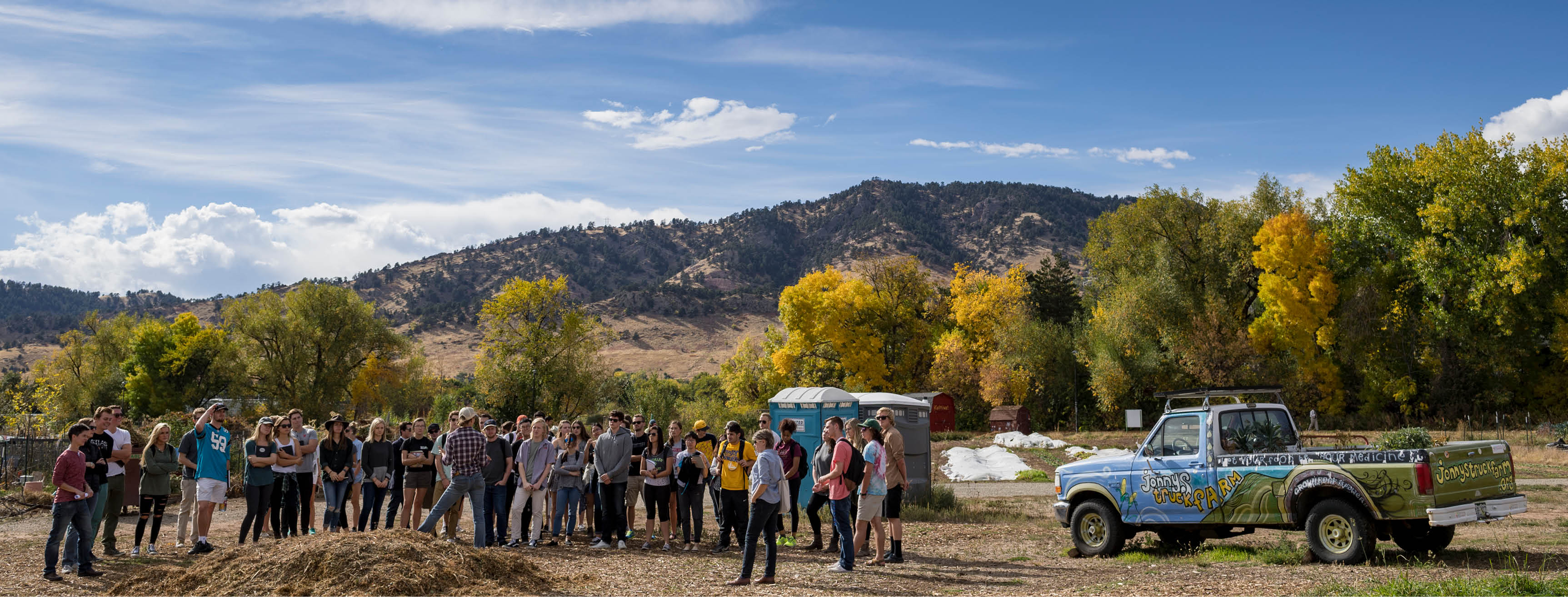 Students attending an off-site analysis.