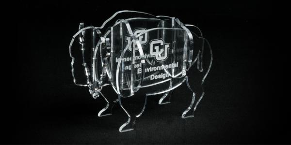 Laser cut acrylic buffalo