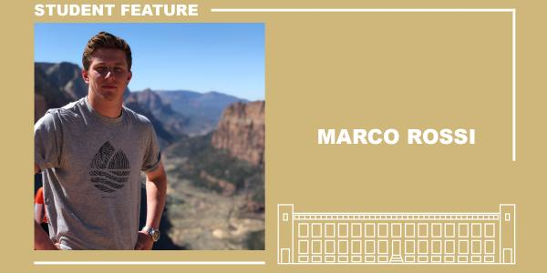 Student feature with Marco Rossi