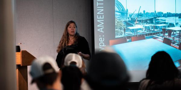 Georgia Lindsay presenting at colloquium