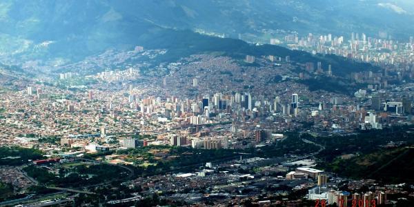 """""""Medellin 2 - Centro historico y El Poblado (al fondo)"""" by Omar Uran is licensed under CC BY 2.0"""