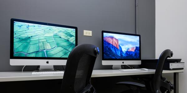 Desktop Macs in the Digital Media Center