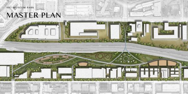 Art Museum Park masterplan render