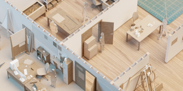 Creative Labs Center floor plan Blender Render by Angus MacInnis