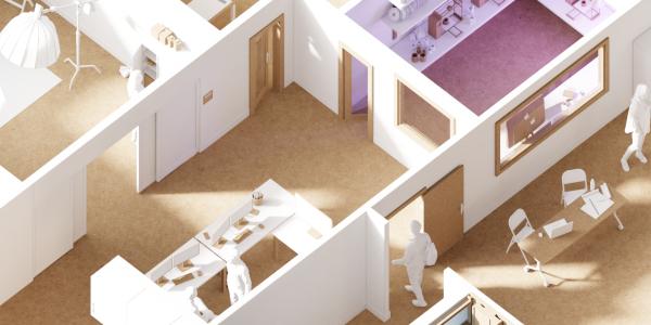 Digital Media Center floor plan Blender Render by Angus MacInnis