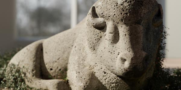 Stone buffalo render by Angus MacInnis