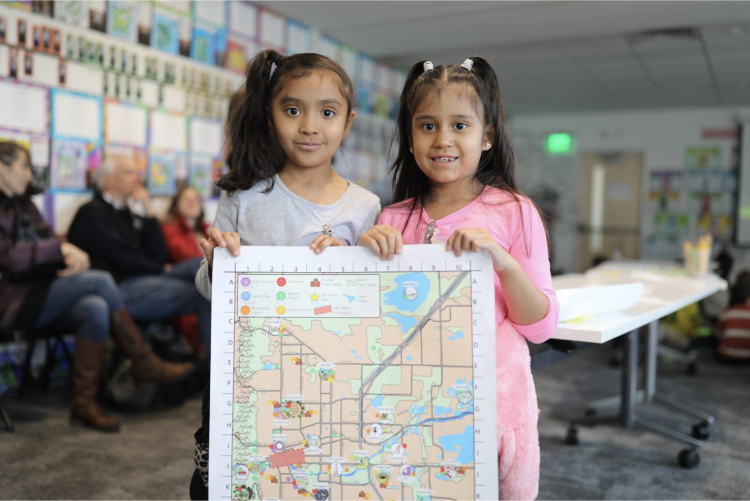 Students help create Boulder's first-ever child-friendly city map, photo by Jade Cody