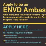 Now hiring Environmental Design student ambassadors for fall 2021