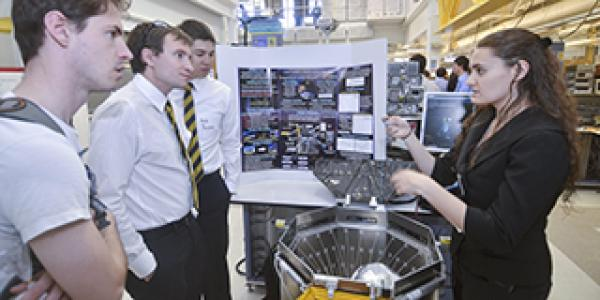 Student teams present their design projects during the ITLL Design Expo.