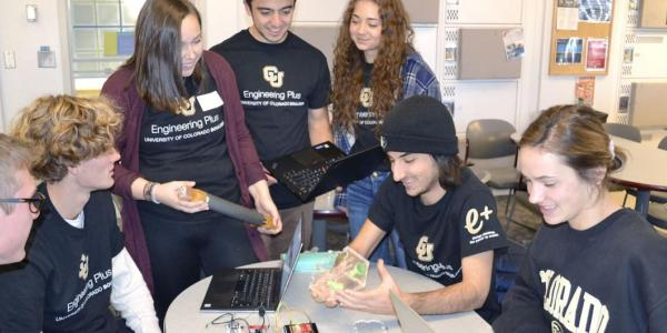 Students working together on a project