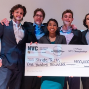 Stride Tech Team Members with $10000 check