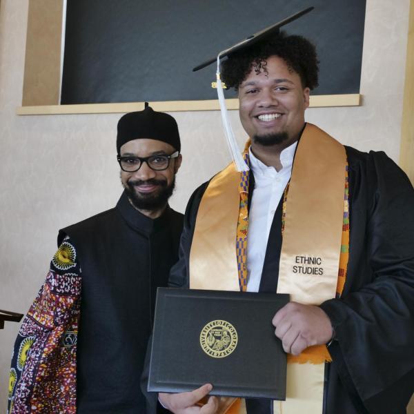 Matthew Perez Jones with Dr. Reiland Rabaka
