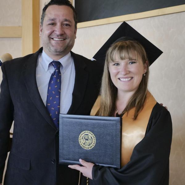 Sarah Fulton with Dr. Nicholas Villanueva