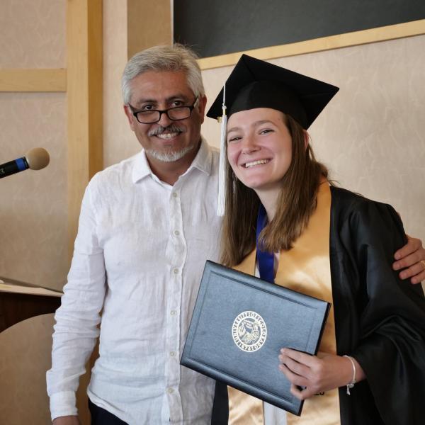 Kelly DiPietro with Dr. Enrique Sepúlveda