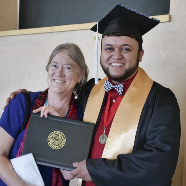 Efren Herrera Hurtado with Dr. Joanne Belknap