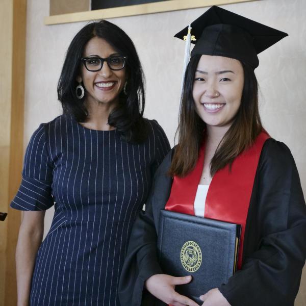 Xinyu Liu with Dr. Seema Sohi