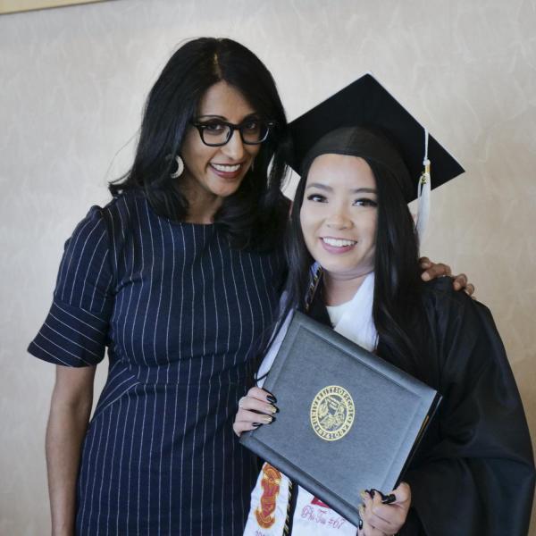 Jaime Tran with Dr. Seema Sohi