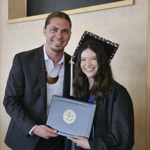 Hannah Soister with Dr. Clint Carroll