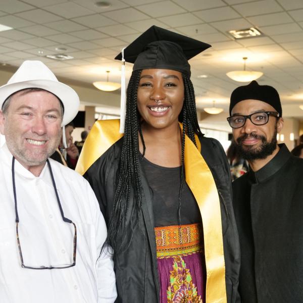 Alia Norris with Dr. Aldama and Dr. Rabaka