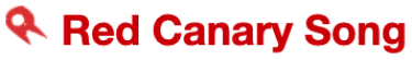 Red Canary Song Logo