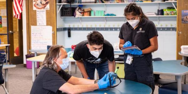 Researchers testing air in schools