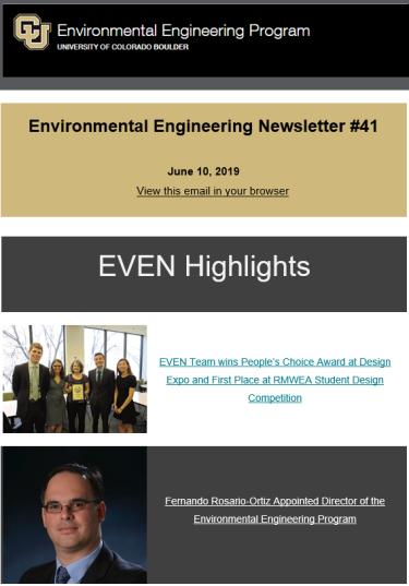 EVEN Newsletter June 2019