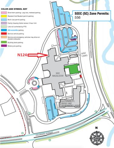 SEEC Parking Map