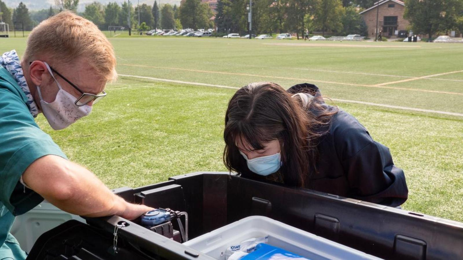 CU Boulder wastewater monitoring