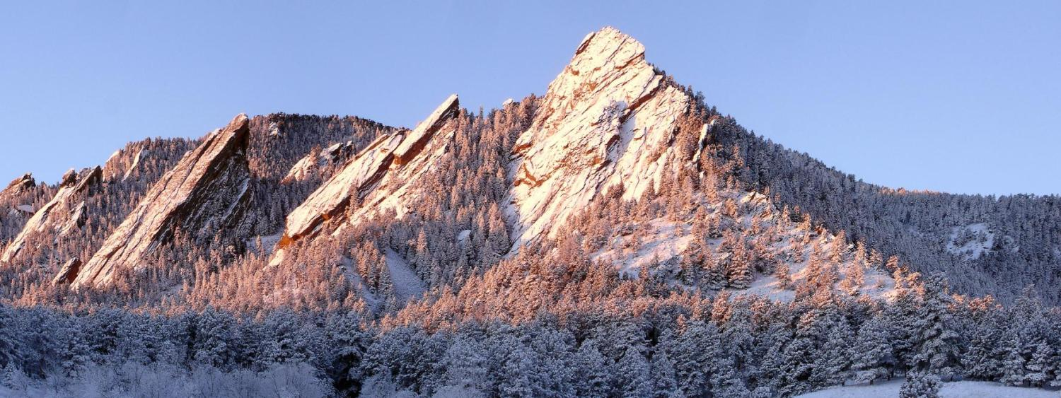 Flatirons rock formations