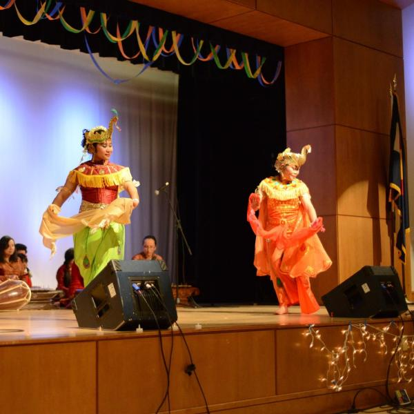 Traditional asian performance.