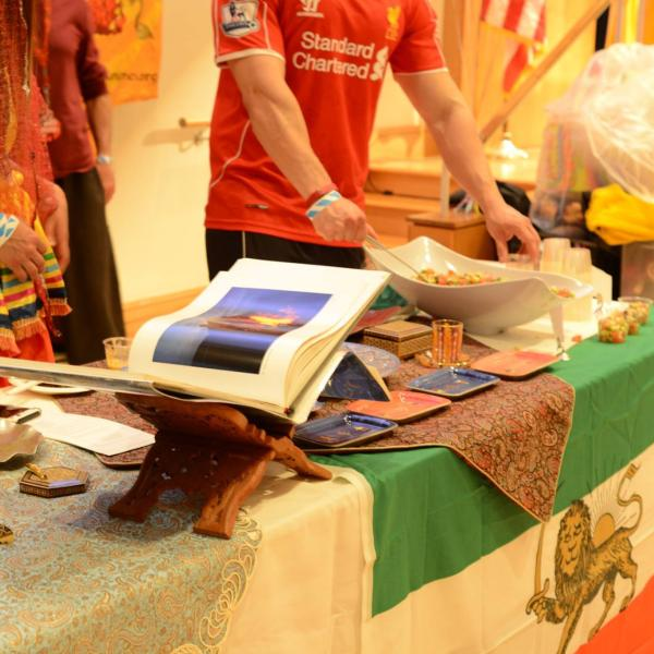 Iran booth decorations.