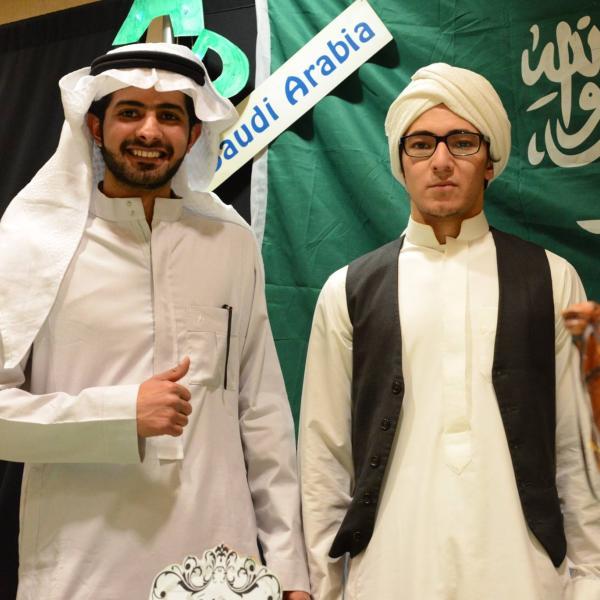 Students at Saudi Arabia Booth.