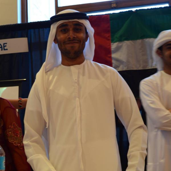 Student at UAE booth