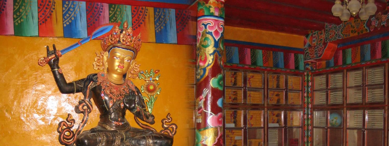 Lotsawa Workshop - Manjushri Statue at Tibetan Library in Drango