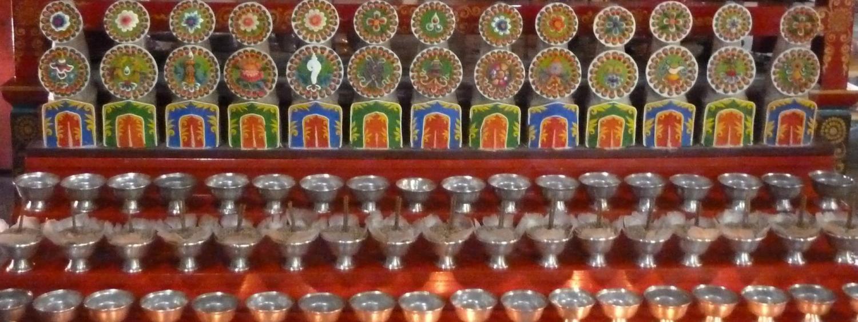 Offerings at a Tara Shrine