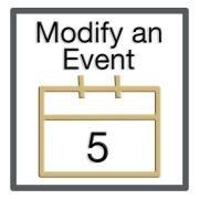 Step 5: Modify an Event